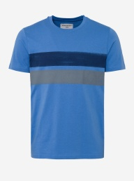 James Organic Tshirt - Two Stripes Blue