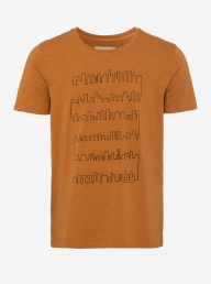 Dean Organic Tshirt - Skyline Orange