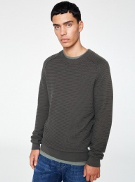 Enne Organic Cotton Sweater - Olive