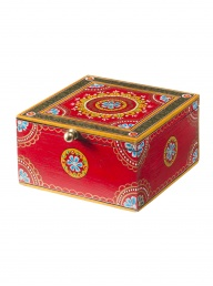 Mehandi Red Wooden Box