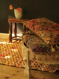 Old Tribal Embroidered Cushion