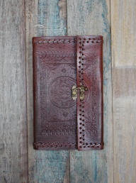 Indra Embossed Leather Journal - Large