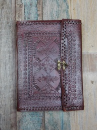 Indra Embossed Leather Journal - XL