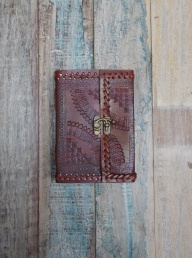 Indra Embossed Leather Journal - Medium