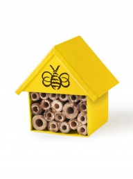 Garden Insect House with Bee - Yellow