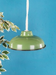 Enamelled Lampshade -Green