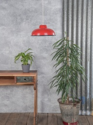 Enamelled Lampshade - Red