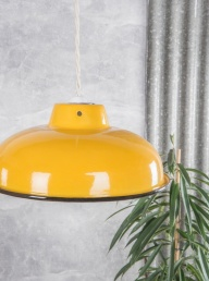 Enamelled Lampshade - Yellow