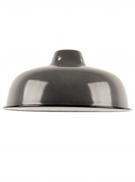 Medium Enamelled Lampshade -Grey