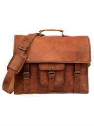 Medium Brown Leather Satchel