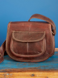 Leather Saddle Handbag