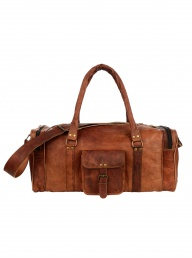 Large Brown Leather Holdall