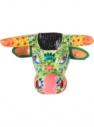 Day of the Dead Cow Mask