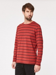 Karl Stripe Tee - Rust