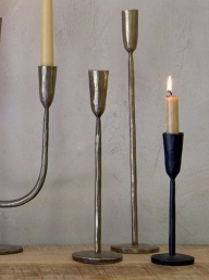 Mbata Brass Candlestick - Medium