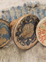 Narok Wood Knobs - Large Faded Blue