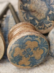 Narok Wood Knobs - Small Faded Blue