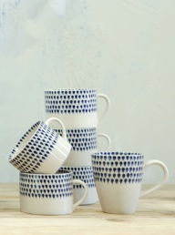 Indigo Drop Mug - Tall