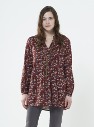Enchanted Forest Tunic - Spice Red