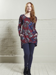Nomads Seam Detail Tunic - Cranberry