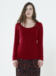 Gathered Organic Cotton Top - Red
