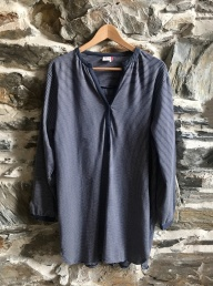 Organic Cotton Nightie - Navy Stripe