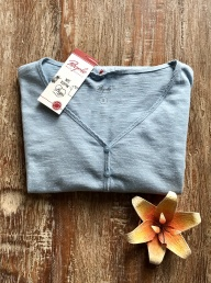 Organic Cotton Pyjama Top - Frost