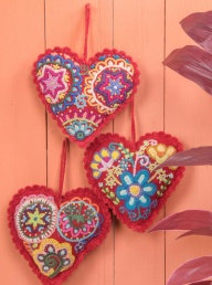 Peruvian Felted Wool Heart Decoration