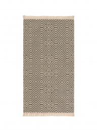 Kilim Rug Recycled PET - Grey