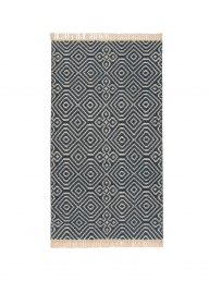 Kilim Rug Recycled PET - Indigo