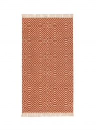 Kilim Rug Recycled PET - Terracotta