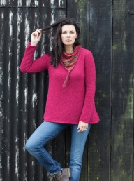 Hareton Alpaca Pully - Raspberry