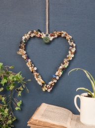 Recycled Button Heart Decoration