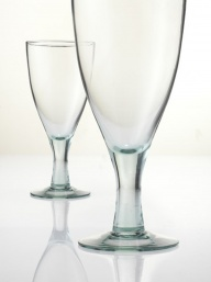 Recycled Large Wine Glasses