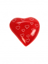 Soapstone Heart - Red
