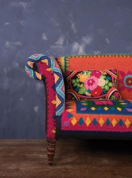 Embroidered Sofa