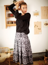Thought Isabella Embroidered Hemp Skirt