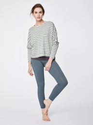 Thought Micro Stripe Leggings - Blue