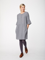 Thought Delfy Check Hemp Dress