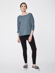 Thought Micro Stripe Tee - Blue