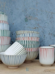 Uka Stripe Nibble Bowl