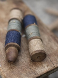 Saju Vintage Spool - Blue/Sage/Natural