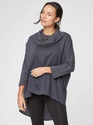 Raina Roll Neck Top from Thought - Grey