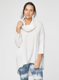 Raina Roll Neck Top from Thought - White