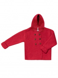 Puri Button Hoody - Red