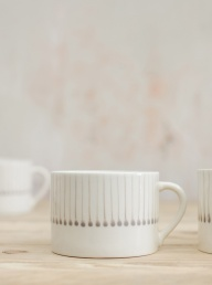 Iba Ceramic Mug Grey - Short