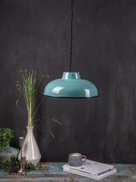 Enamelled Lampshade -Teal