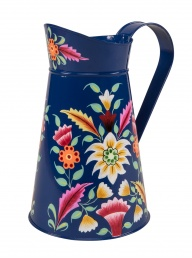 Kashmir Hand Painted Folk Jug - Blue
