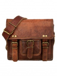 Small Brown Leather Satchel