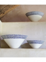 Indigo Drop Serving Bowl - Medium